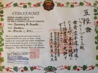 Nagamine Certificate
